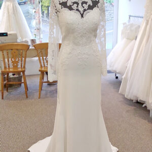 Pamela-Ann Lace Sleeves Wedding Dress